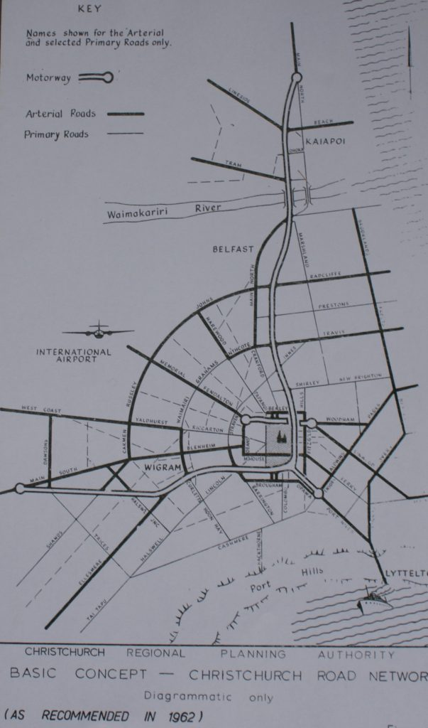 1962 Christchurch Motorway Plan